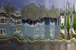 House Reflected. A house is reflected in the edge of a trailor Stock Photography