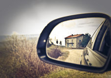 House reflected Royalty Free Stock Photography