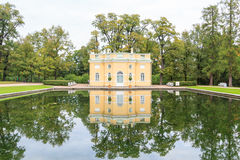 House with reflection on  a pond Stock Image