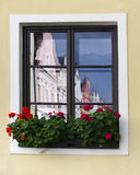 House reflection in window Royalty Free Stock Photo