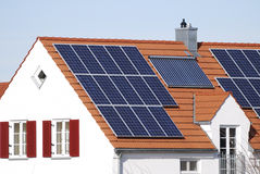 House with regenerative energy system Royalty Free Stock Images