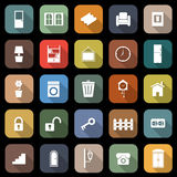 House related flat icons with long shadow Stock Photos