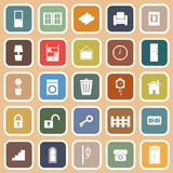 House related flat icons on orange background Stock Image