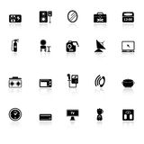 House related icons with reflect on white background Stock Photo