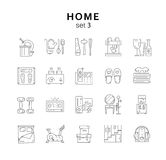 House related icons set 3, home appliance, vector illustration, Stock Image
