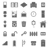 House related icons on white background Royalty Free Stock Photos