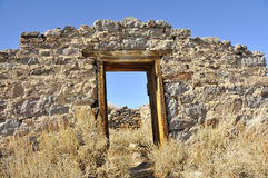 House Remains in Ghost Town. House Remains in California High Desert located at Bodie Ghost Town Stock Image