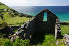 House remains in Ireland stock photo