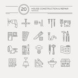 House Remodel Icons Royalty Free Stock Images