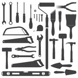 House remodel instruments silhouette set Stock Image