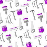 House remodel tools vector seamless background Royalty Free Stock Photography