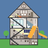 House remodeling on infographic illustration Stock Images