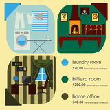 House remodeling infographic. Set interior elements for creating Royalty Free Stock Photos