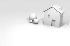 House rendering with copyspace Stock Photography