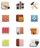 House renovation icon set. Part 2. Set of icons representing house repair and renovation Stock Image