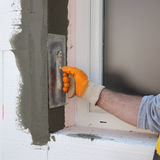 House renovation, polystyrene wall insulation Royalty Free Stock Photography