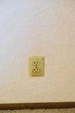 House Renovation and Remodel. Dangerous electrical outlet with signs of a short and fire hazard Stock Photos