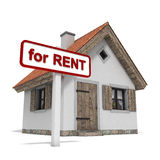 House for rent. House with for rent sign Stock Photo