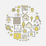 House for rent colorful illustration Royalty Free Stock Photography