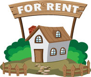 House for rent. Illustration of house for rent. Concept of city lifestyle royalty free illustration