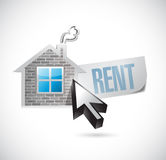 House and rent message illustration design Stock Photos