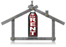 House For Rent - Metal Meter Tool Stock Photography