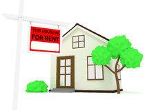 House for rent stock image