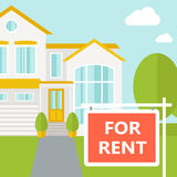 The house for rent Royalty Free Stock Image