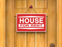 House for rent, real estate, home, door, advertise Stock Image