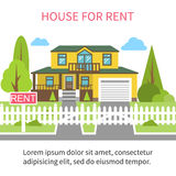 House for rent. Royalty Free Stock Photography