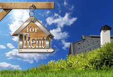 House For Rent - Sign Hanging from Chain Royalty Free Stock Photo