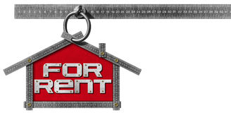 House For Rent Sign - Metallic Meter Royalty Free Stock Photography