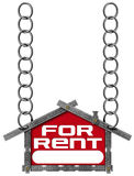 House For Rent Sign - Metallic Meter Royalty Free Stock Photos