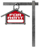 House For Rent Sign - Metallic Meter Royalty Free Stock Image