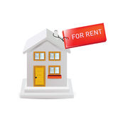 House with for rent sign  Stock Images