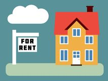 House for rent Royalty Free Stock Photography