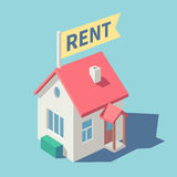 House for rent. Vector illustration Royalty Free Stock Photos