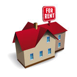 House for rent vector Royalty Free Stock Photos