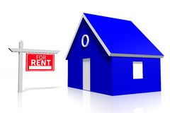 House rental concept Stock Photography