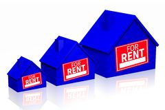 House rental concept Royalty Free Stock Images