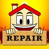 House Repair Representing Fixing House 3d Illustration. House Repair Represents Fixing House 3d Illustration Royalty Free Stock Images