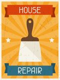 House repair. Retro poster in flat design style Royalty Free Stock Photos
