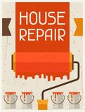 House repair. Retro poster in flat design style Stock Photos