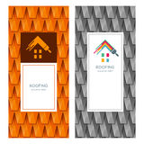 House repair and roofing  logo, label, emblem design elements. Stock Photography