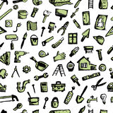 House repair, seamless pattern for your design Royalty Free Stock Image