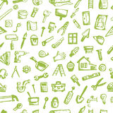 House repair, seamless pattern for your design Stock Photo