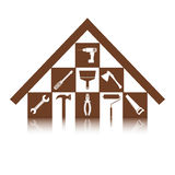 Set of icons on the theme of building tools for repair or alteration your house Stock Photography