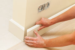 House repairing, skirting board Stock Photos