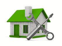 House repairing on white background Royalty Free Stock Image