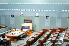 House of representatives. CANBERRA - NOV 08: Inside parliament house, the house of representatives where both sides of the federal government debate future Stock Photos